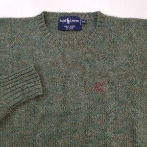 VTG Ralph Lauren Crest Wool Sweater Sz M EUC